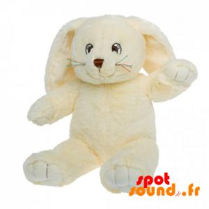 Lapin en peluche, jaune avec de grandes oreilles