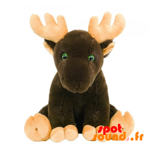 Reindeer Brown, Plush. Plush Caribou