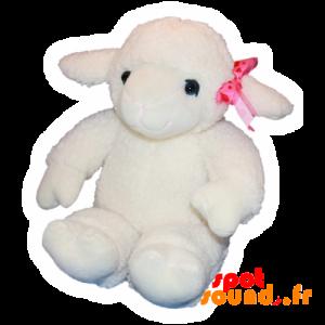 Mouton blanc en peluche. Agneau en peluche