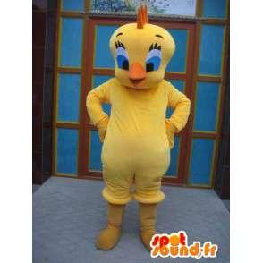 Cabeça da mascote - amarelo amarelo - Cartoon Tweety e Sylvester - MASFR00180 - Mascotes TiTi e Sylvester