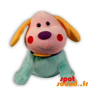 Farget Utstoppet Hund. Fargerik Plysj Hund - PELFR040288 - plush