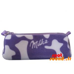 Trousse Milka violette et blanche, en peluche. Peluche Milka - PELFR040294 - plush