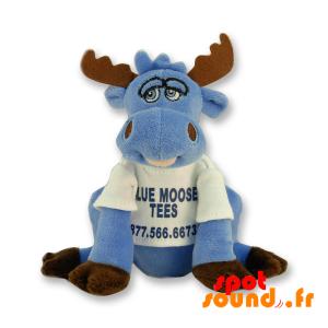 Caribou Blauwe Pluche. Plush Kariboe. Pluche Rendier - PELFR040301 - plush