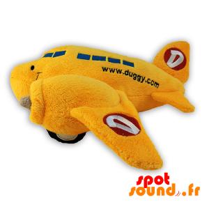 Avion jaune en peluche. Peluche avion. Avion jaune - PELFR040302 - plush