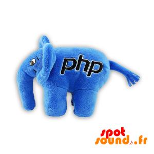 Éléphant bleu en peluche. Peluche éléphant PHP - PELFR040304 - plush