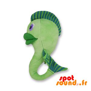Poisson vert en peluche. Peluche poisson vert. Hippocampe - PELFR040305 - plush