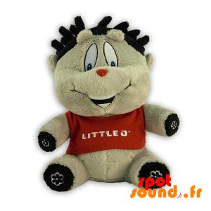 Gray Stuffed Animal, All Smiles. Gray Plush - PELFR040308 - plush
