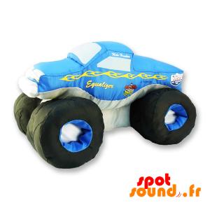 Monster Truck en peluche, bleu et blanc. Peluche voiture - PELFR040310 - plush