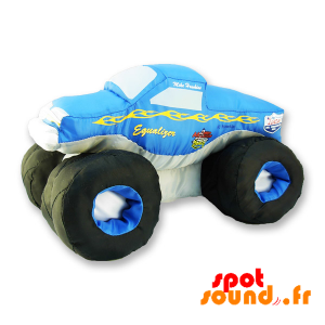 Monster Truck Plush, Blue And White. Plush Car - PELFR040310 - plush