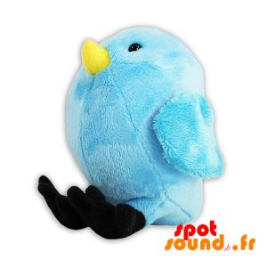 Oiseau bleu en peluche, dodu et drôle. Peluche oiseau - PELFR040312 - plush