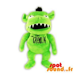 Gremlin vert en peluche. Peluche monstre vert - PELFR040314 - plush
