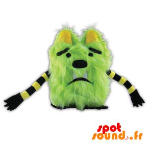 Monstre vert, en peluche, tout poilu. Peluche monstre vert - PELFR040318 - plush