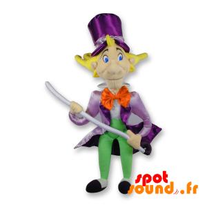 Magician Stuffed With Purple Suit. Plush Gentleman - PELFR040319 - plush