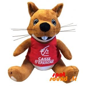Écureuil en peluche. Peluche Caisse d'Épargne - PELFR040327 - plush