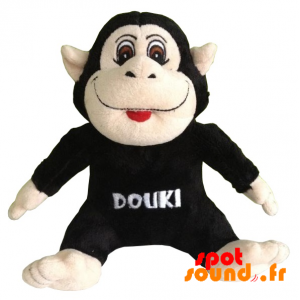 Black Stuffed Monkey. Plush Monkey Black And Pink - PELFR040328 - plush