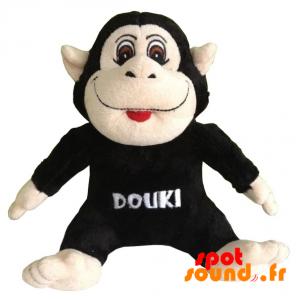 Black Stuffed Monkey. Plush Monkey Black And Pink - PELFR040328 - plush
