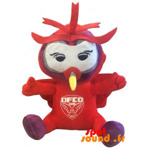 Hibou rouge en peluche. Peluche hibou DFCO - PELFR040330 - plush