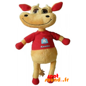 Cow Brown And Red Plush. Plush Cow - PELFR040336 - plush