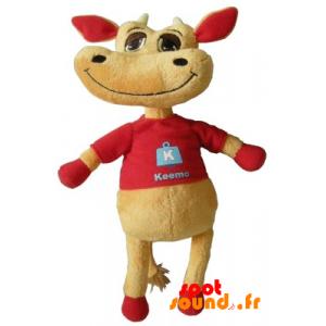 Vache marron et rouge en peluche. Peluche vache - PELFR040336 - plush