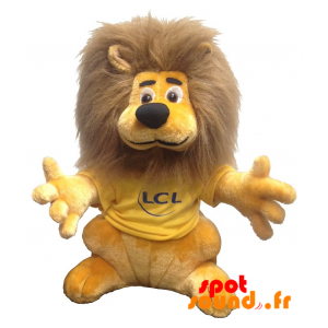 Lion Plush Lcl. Plush Lion Lcl, Yellow And Brown - PELFR040338 - plush