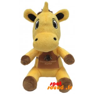 Cow Yellow Teddy. Plush Cow Yellow And Brown - PELFR040340 - plush