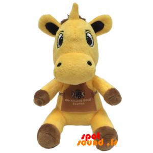 Vache jaune en peluche. Peluche vache jaune et marron - PELFR040340 - plush