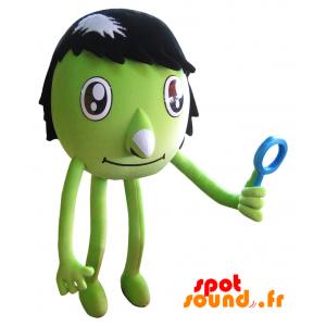 Bonhomme vert en peluche. Créature verte en peluche - PELFR040341 - plush