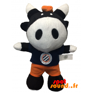 Black And White Cow, Plush. Plush Cow - PELFR040343 - plush