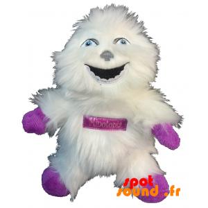 Yéti blanc, en peluche, tout poilu. Peluche yéti blanc - PELFR040344 - plush