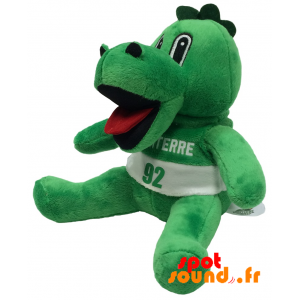 Crocodile en peluche. Peluche crocodile vert - PELFR040345 - plush