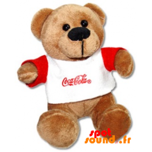 Brown Teddy Bear With A Pull Coca Cola - PELFR040346 - plush