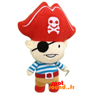 Pirate Stuffed With A Big Hat. Plush Pirate - PELFR040348 - plush