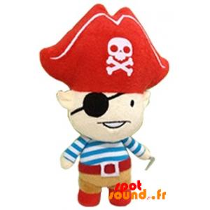 Pirate en peluche avec un grand chapeau. Peluche pirate - PELFR040348 - plush