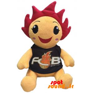 Bonhomme orange en peluche. Peluche FCB Ardenne - PELFR040349 - plush
