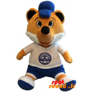 Orange And White Stuffed Fox. Plush Fox Sports - PELFR040352 - plush