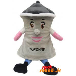 Tour grise en peluche de la ville de Turon. Peluche tour - PELFR040357 - plush