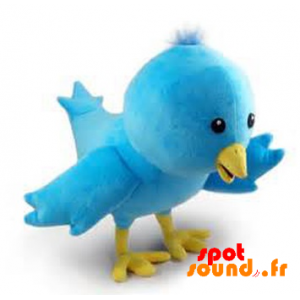 Larry, Blue Bird Of Twitter Stuffed. Plush Twitter - PELFR040358 - plush