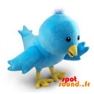 Larry, oiseau bleu de Twitter en peluche. Peluche Twitter - PELFR040358 - plush