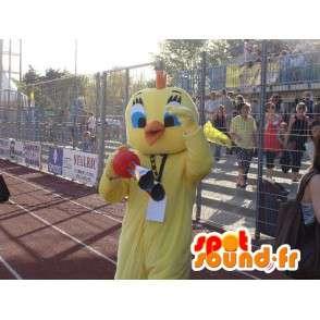 Testa Mascot - Giallo Canarino - Cartoon Titti e Silvestro
