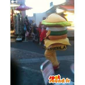 Mascot Hamburger - Miam Sandwich burger - Express-Lieferung - MASFR00253 - Fast-Food-Maskottchen