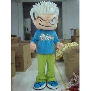 Skater Boy Mascot - žádná pravidla - Bižuterie cyklista FreeRide - MASFR00445 - sportovní maskot