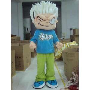 Skater Boy Mascot - No Rules - Costume Fietser FreeRide