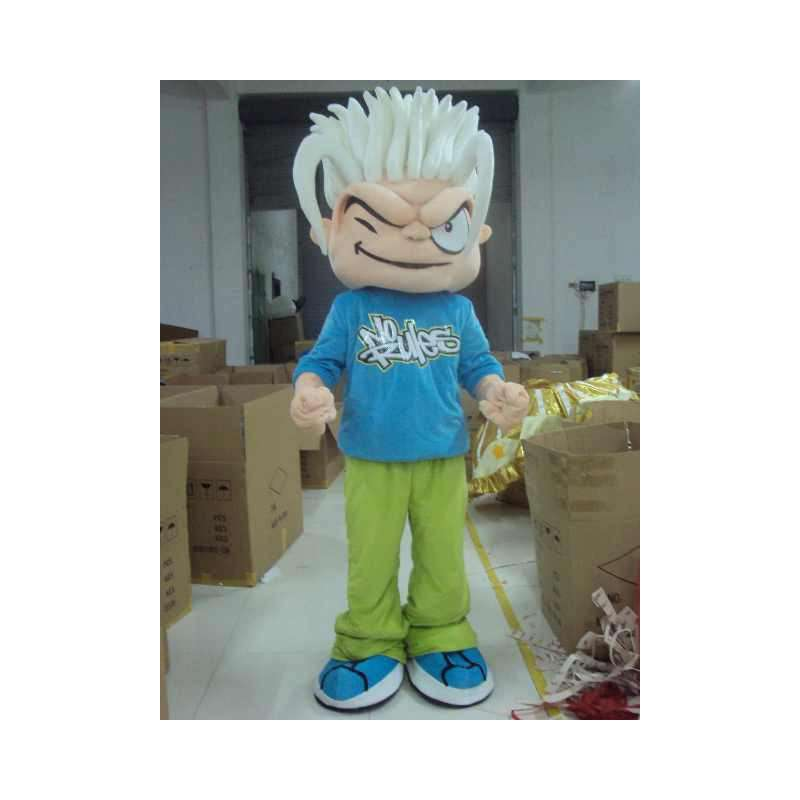 Skater Boy Mascot - Inga regler - SportWear FreeRide-kostym -