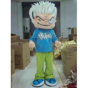 Skater Boy Mascot - No Rules - Puku Pyöräilijä FreeRide - MASFR00445 - urheilu maskotti