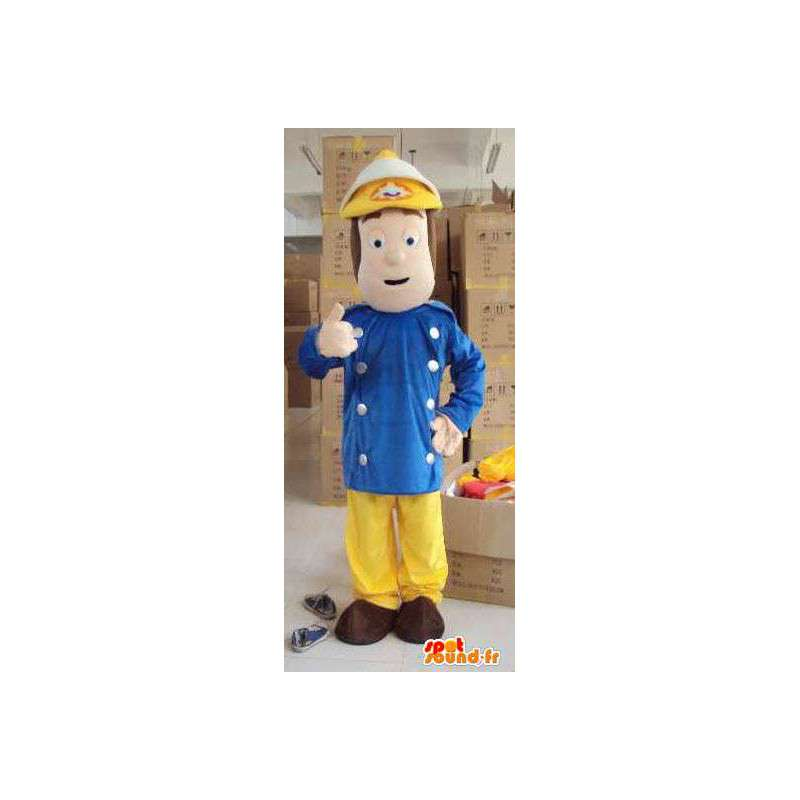 Mascote bombeiro masculino - Ideal para quartéis - Poliestireno - MASFR00447 - Mascotes homem