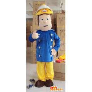 Muž hasič maskot - Ideální pro kasárna - pěnový - MASFR00447 - Man Maskoti