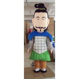 Muž maskot Samurai - plastická a velikostí