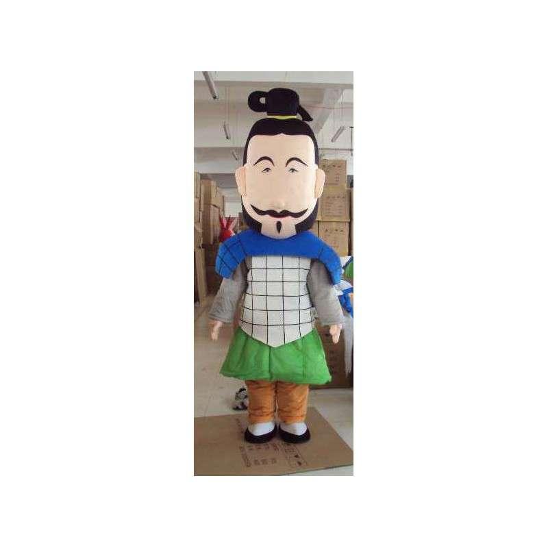 Man Mascot Samurai - Schuim en maten - MASFR00448 - man Mascottes