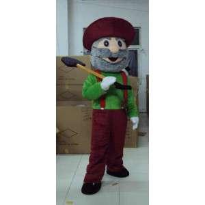 Muž maskot Mine - s lopatou a klobouk příslušenství