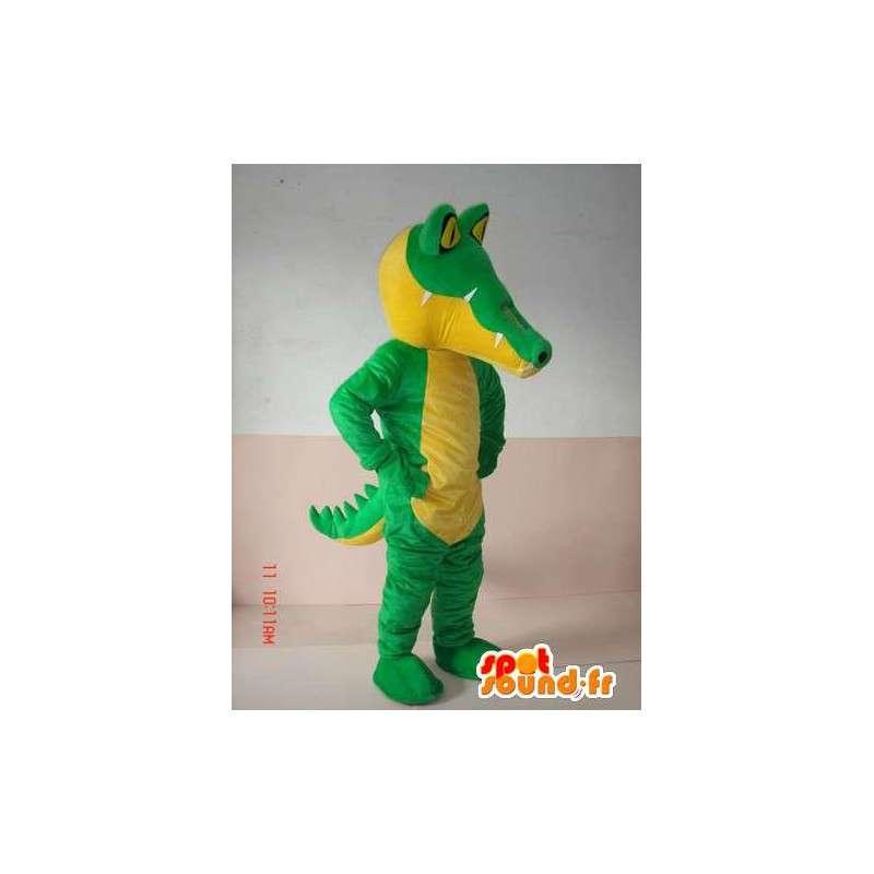 古典的な緑のワニのマスコット - スポーツのスーツのサポート - MASFR00300 - マスコットのワニ
